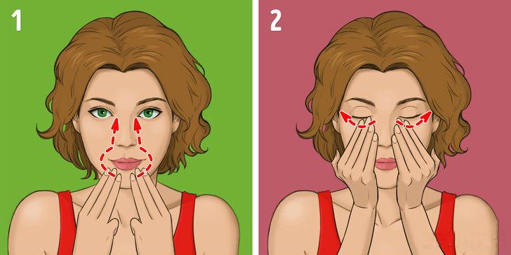 Массаж лица для подтяжки носогубных складок в домашних условиях