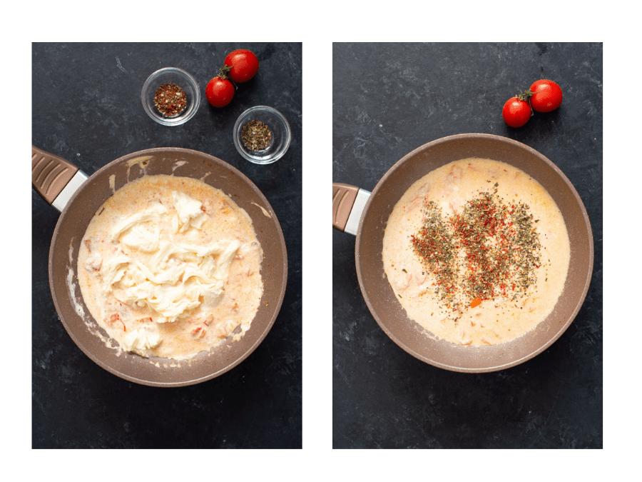 Сливочная паста с креветками и моцареллой: пошаговый рецепт с фото