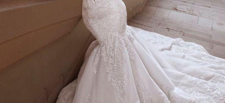 Платье для невесты в стиле русалки