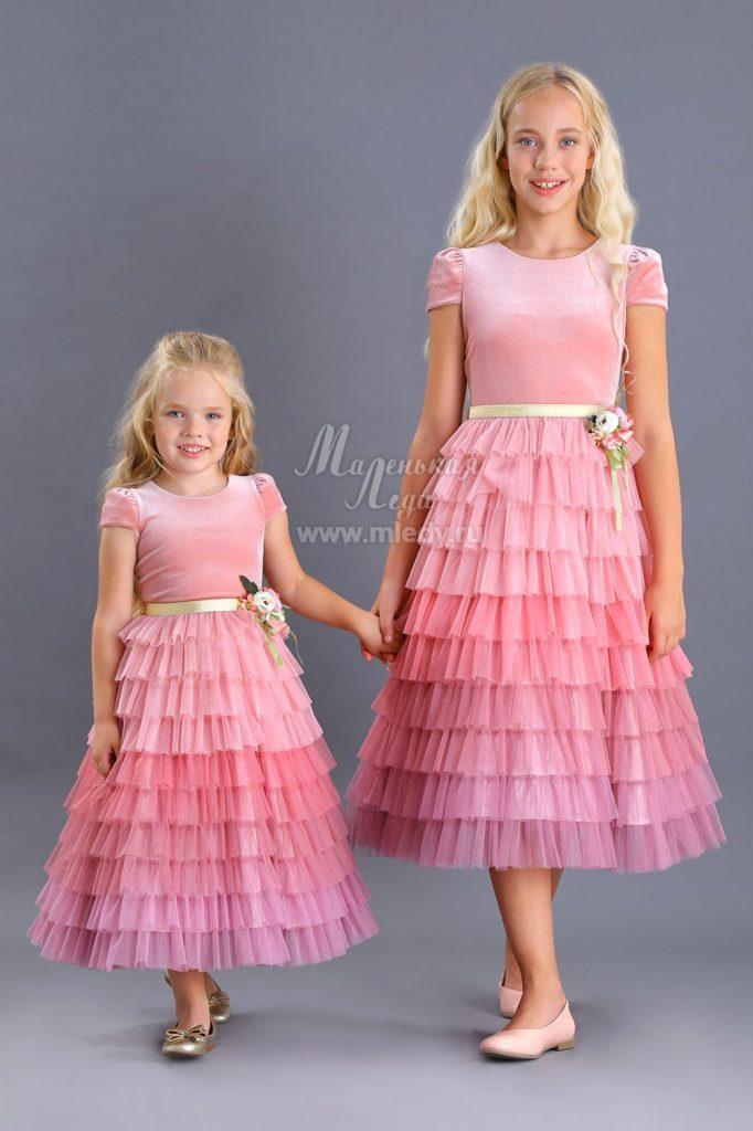 Детское платье лавандовое